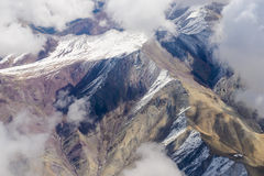 Beautiful view from the aircraft to the mountains of Himalaya Royalty Free Stock Photography