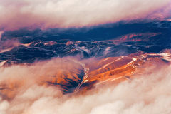 Beautiful view from the aircraft Royalty Free Stock Images