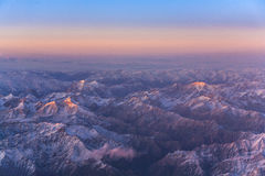 Beautiful view from the aircraft Royalty Free Stock Photography