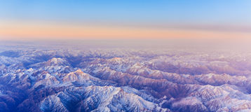 Beautiful view from the aircraft Royalty Free Stock Photos