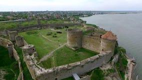 Beautiful view on Akkerman fortress in Belgorod-Dniester, Ukraine stock video