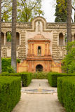 A beautiful view of the Alcazar gardens Stock Images