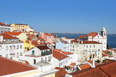 Beautiful view of Alfama, Lisbon ,Portugal Stock Image
