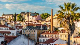 BEAUTIFUL VIEW OF ALFAMA FROM TOP OF ALFAMA HILL royalty free stock photos