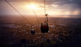 Beautiful view of Almaty city from Koktobe Royalty Free Stock Images
