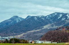 Hokkaido Road trip. Beautiful view along the road from Chitose Airport to Furano, a small town located in Hokkaido, Japan. Driving in Hokkaido is amazing, the Stock Images
