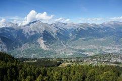 Beautiful view along trekking trial Stock Photo
