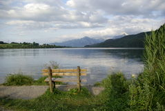 Beautiful view of Alpine lake. In Germany, peacful setting, evening Royalty Free Stock Images