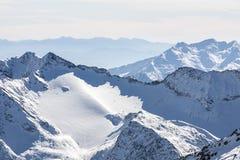 Beautiful view of the Alps mountains, Austria, Stubai royalty free stock images
