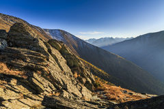 Beautiful view of the Altai Mountains in the evening. Royalty Free Stock Photography