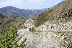 Beautiful view of Altai Mountains on the pass Stock Photo