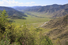 Beautiful view of Altai Mountains on the pass Stock Images