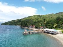 Beautiful view of ambon. Wonderful beach of ambon indonesia royalty free stock photography