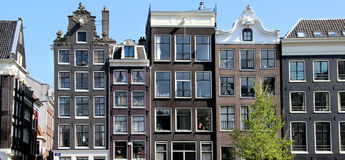 Beautiful view of Amsterdam houses, Netherlands Royalty Free Stock Photos