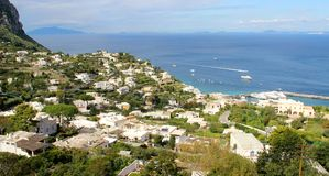 Beautiful view of Anacapri, Campania, Italy Stock Photos