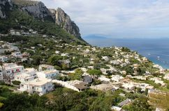 Beautiful view of Anacapri, Campania, Italy Stock Photography