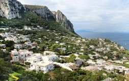Beautiful view of Anacapri, Campania, Italy Stock Photo