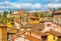 Beautiful view of the ancient city of Perugia Stock Image