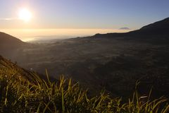 A beautiful view from Andong mountain, Magelang, Indonesia royalty free stock photography