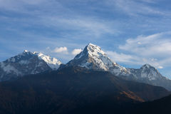 Beautiful view of Annapurna range, Himalayan mountains, Nepal. From Poonhill viewpoint Stock Photography