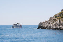 Beautiful view of Antalia harbor stock photography