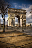 Beautiful view of the Arc de Triomphe, Paris. France Stock Photography