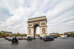 Paris, France - November, 2017. Beautiful view of the Arc de Triomphe, Paris. Beautiful view of the Arc de Triomphe, Paris France Royalty Free Stock Photo