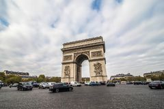 Paris, France - November, 2017. Beautiful view of the Arc de Triomphe, Paris. Beautiful view of the Arc de Triomphe, Paris France Stock Photo