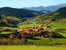 Beautiful view of Arrazola village in Basque Country. Beautiful view of Arrazola village in Atxondo, Basque Country stock image
