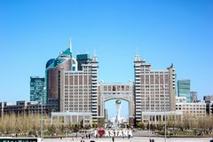 Beautiful view of Astana, the capital of Kazakhstan stock images