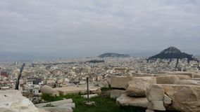 Beautiful view of Athens royalty free stock photo