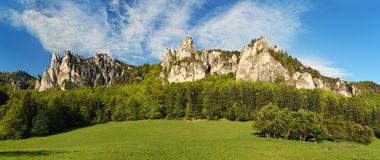 Beautiful view of the austrian alps. Royalty Free Stock Photo