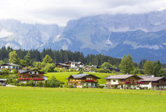 A beautiful view of the austrian Alps Royalty Free Stock Photo