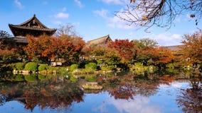 Autumn garden at Toji temple, Kyoto Stock Photo