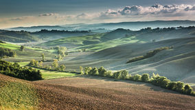 Beautiful view of the autumn landscape in Tuscany Royalty Free Stock Images