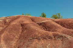 Beautiful view of badlands backgroud against clear blue sky Royalty Free Stock Photos