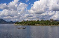 The beautiful view of Bafa Lake, Turkey royalty free stock image