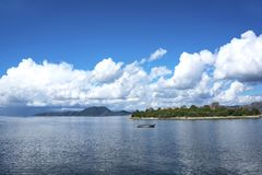 The beautiful view of Bafa Lake, Turkey royalty free stock images