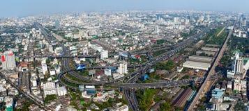 Beautiful view of Bangkok. Thailand From Baiyoke Sky Hotel royalty free stock photo