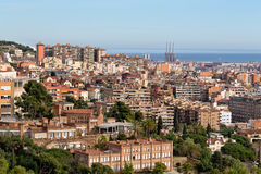 Beautiful view of Barcelona from the top. Stock Photos