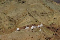 Beautiful view from Basgo Monastery in Ladakh, India Royalty Free Stock Photos