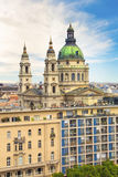 Beautiful view of the Basilica of Saint Stephen and the historic center of Budapest, Hungary Royalty Free Stock Images