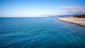 Beautiful view of batumi beach, Georgia Royalty Free Stock Images