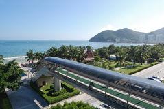 Beautiful view in bay Dadunhai. China, Hainan Stock Image