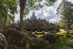 View of Bayon in Seam Reap, Cambodia. Beautiful view of Bayon with cloudy in Seam Ream, Cambodia Stock Photos