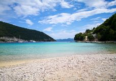 A peaceful beach in croatia stock image