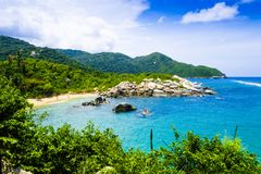 Beautiful view of beach at Cabo San Juan,Tayrona Natural National Park, Colombia Stock Images