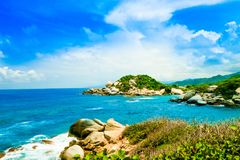 Beautiful view of beach at Cabo San Juan,Tayrona Natural National Park, Colombia Stock Image