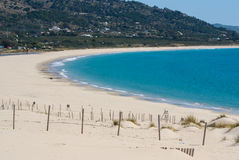 Beautiful view on beach and ocean, Spain, Tarifa Royalty Free Stock Photo