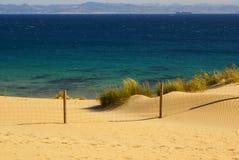 Beautiful view on beach and ocean, Spain, Tarifa Royalty Free Stock Image